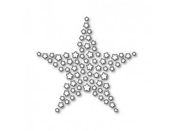 Stanzschablone Karten-Kunst 'Star of Stars'