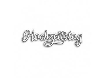 Stanzschablone Karten-Kunst Große Texte 'Hochzeitstag'