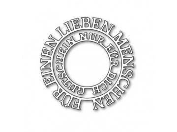 Stanzschablone Karten-Kunst Kreistexte 'Für einen lieben Menschen'