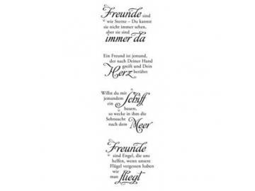 Stempelset Karten-Kunst Weise Worte für Freunde