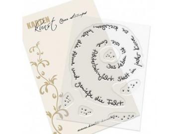 Stempel Karten-Kunst - Spiral-Text Achterbahn
