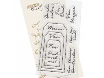 Stempel Karten-Kunst - Tag-Sprüche