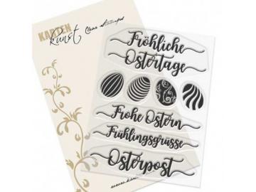Stempel Karten-Kunst - Kalligraphie zu Ostern