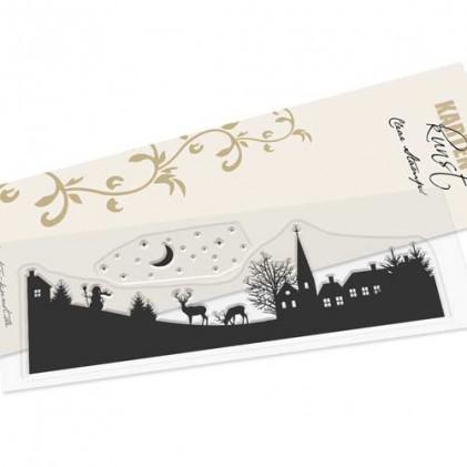 Stempel Karten-Kunst - Skyline Winter Village