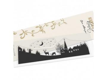 Stempel Karten-Kunst - Skyline Winter Village