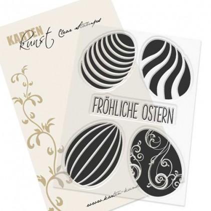Stempel Karten-Kunst - Ostereier