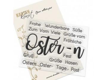 Stempel Karten-Kunst - Riesige Wünsche Ostern